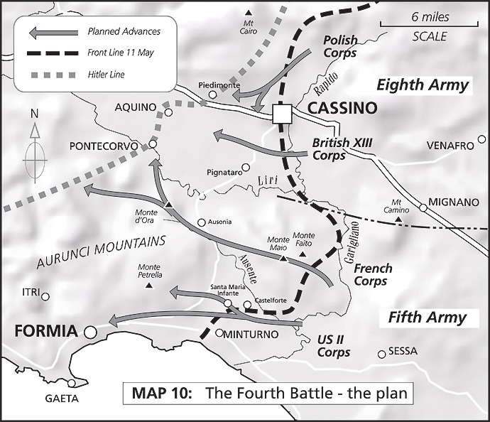 Map 10: The Fourth Battle - the plan