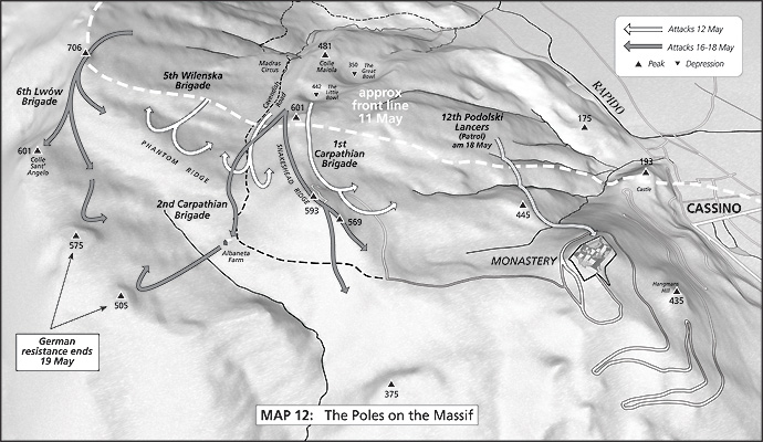 Map 12: The Poles on the Massif