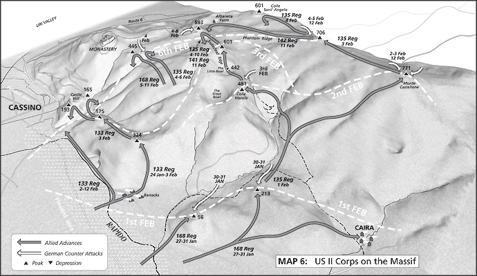 Map 6: USII Corps on the Massif