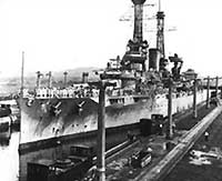 The U.S.S. Texas in Gatún Locks in July 1919